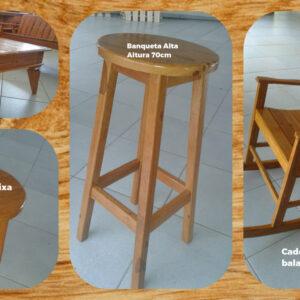 Banquetas móveis para catálogo
