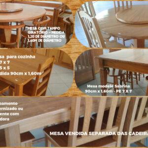 Mesas de cozinha para catálogo móveis