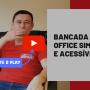 Bancada home office simples e acessível